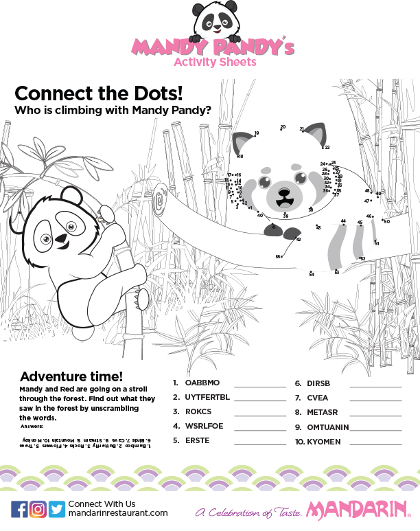 Mandarin Kids Activity Sheets